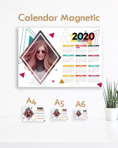 Calendar Magnetic 2020 personalizat cu poze ideal pentru frigider. Model 5