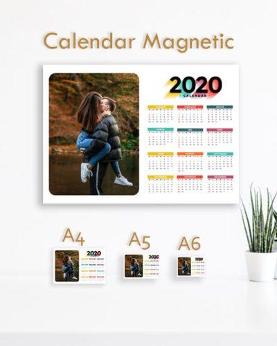 Calendar Magnetic 2020 personalizat cu poze ideal pentru frigider. Model 6