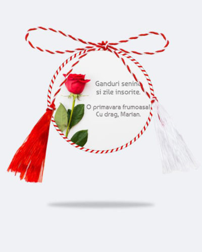 Martisor personalizat cu text MODEL 3