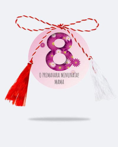 Martisor personalizat cu text MODEL 5