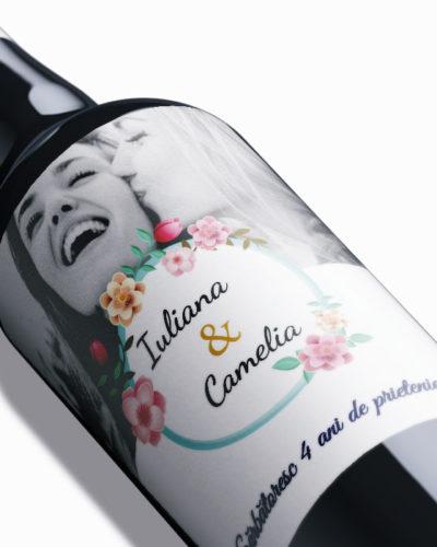 Etichetă personalizată pentru sticla de vin, aniversarea prietene. 2 buc.