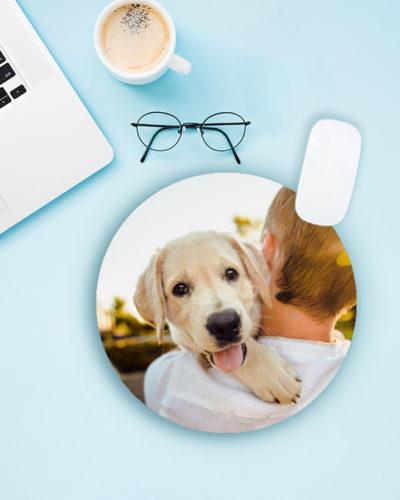 Mousepad personalizat cu poza ta. Model rotund.