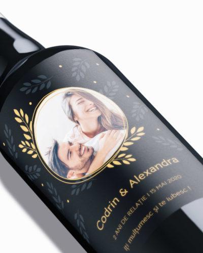 Etichetă personalizată pentru sticla de vin, aniversare de cuplu. 2 buc.