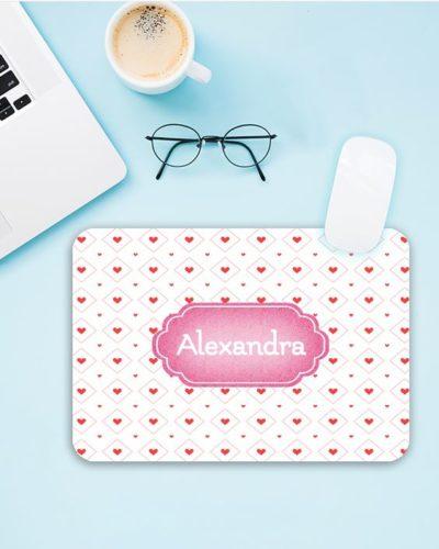 Mousepad personalizat cu nume sau mesaj pentru fete.