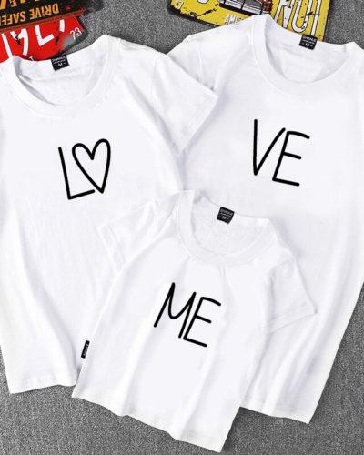 Tricouri mamă tată copil Model Lo Ve Me