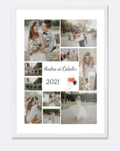 Tablou personalizat A3 cu multe poze, pentru diferite ocazii.