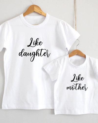 Tricouri personalizate mamă fiică model Like