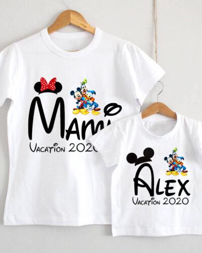 Set Tricouri Mama si Fiul model Disney
