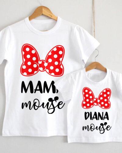 Set Tricouri Mamă Fiică model Mouse