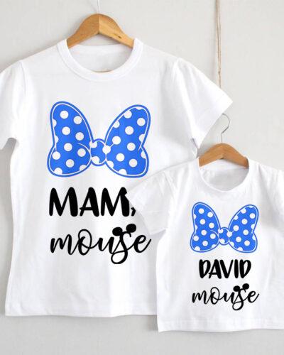 Set Tricouri Mama Fiul model Mouse
