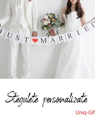 Stegulete personalizate petrecere Just Married