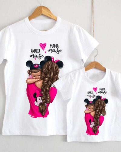 Set Tricouri Mama si Fiica model Minnie Mouse