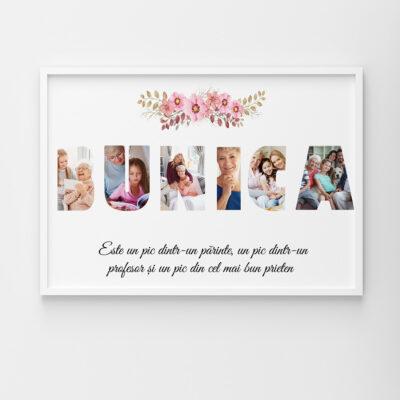 Tablou personalizat cu poze pentru bunica